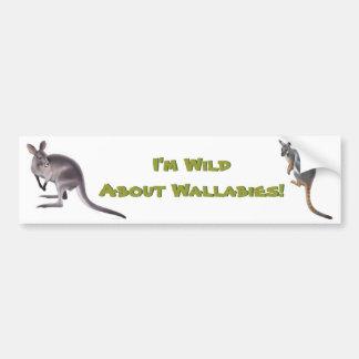 Wild About Wallabies Bumper Sticker