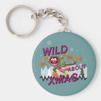 Wild about Xmas Basic Round Button Keychain