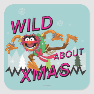 Wild about Xmas Square Sticker
