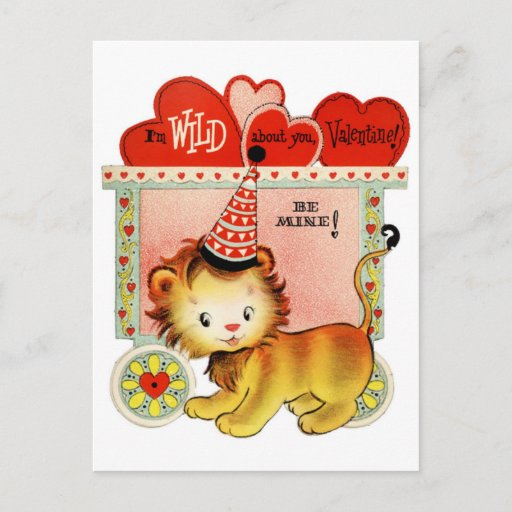 Image Wild About You Valentine Postcard