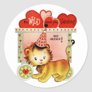 Wild About You | Valentine | Round Stickers