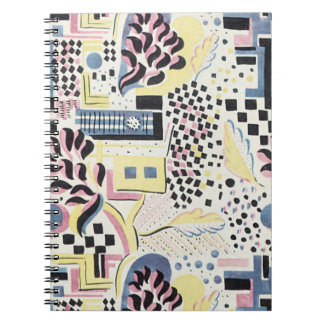 WIld Abstract in Pink and Blue Notebook