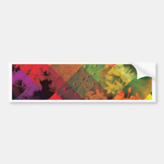 Wild Abstract of Nature Bumper Sticker