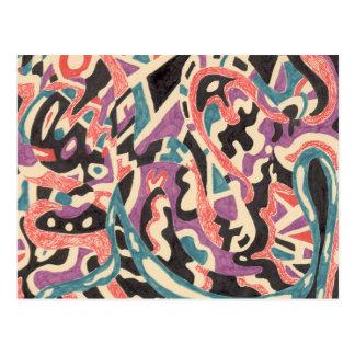 """Wild"" Abstract Postcard"