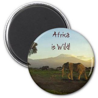 Wild Africa Animal-lovers Big Five 2 Inch Round Magnet