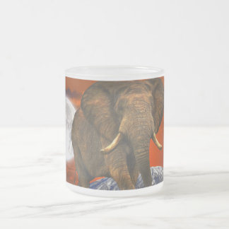 Wild Africa Animal-lovers Big Five Frosted Glass Coffee Mug
