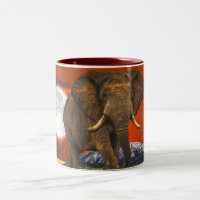 Wild Africa Animal-lovers Big Five Two-Tone Coffee Mug