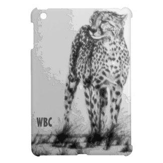 Wild African Cheetah, Forever Free, Retro Design iPad Mini Cover