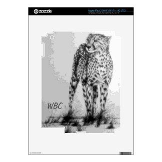 Wild African Cheetah, Forever Free, Retro Design iPad 3 Skins