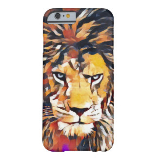 Wild African Lion Cubist Wildlife Painting Barely There iPhone 6 Case