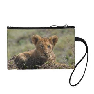 Wild African Lion Cubs Wristlet Bag