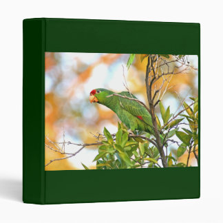 Wild Amazon Parrot Birds Animals Wildlife 3 Ring Binder