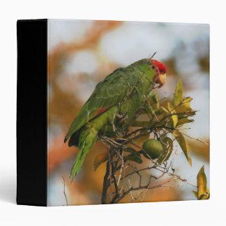 Wild Amazon Parrot Birds Animals Wildlife Binder