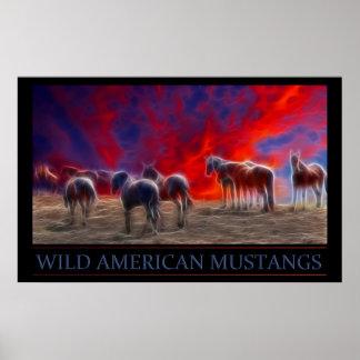 Wild American Mustang Poster