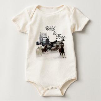 Wild & Free Baby Bodysuit