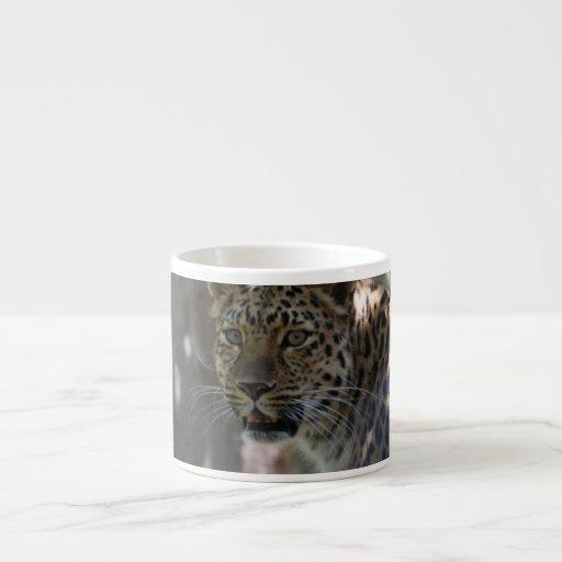 Wild Amur Leopard Espresso Mugs