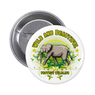 Wild and Beautiful Elephant 2 Inch Round Button