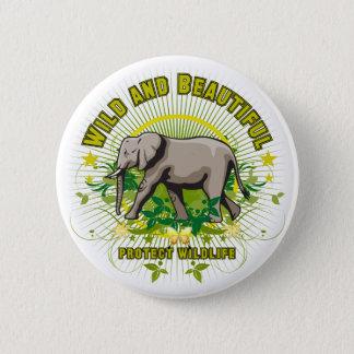 Wild and Beautiful Elephant Pinback Button