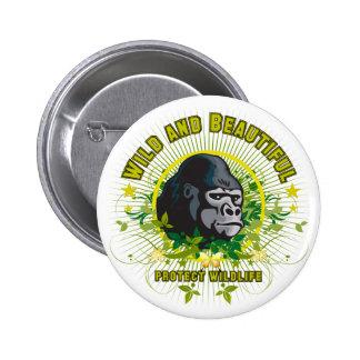 Wild and beautiful Gorilla 2 Inch Round Button