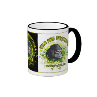 Wild and beautiful Gorilla Ringer Coffee Mug