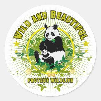 Wild and beautiful Panda Classic Round Sticker