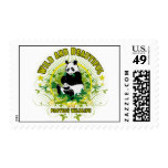 Wild and beautiful Panda Postage Stamp