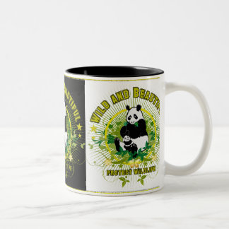 Wild and beautiful Panda Two-Tone Coffee Mug
