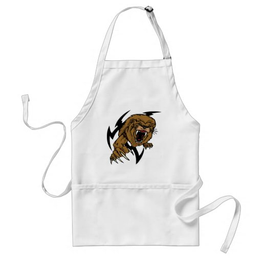 Wild and Brown Lion roaring Aprons