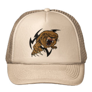 Wild and Brown Lion roaring Trucker Hat