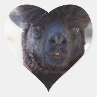Wild and Crazy Alpaca Hair Style Heart Sticker