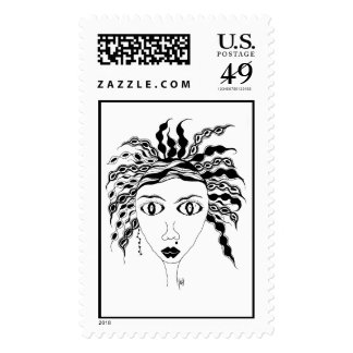WILD AND CRAZY GIRL POSTAGE STAMPS
