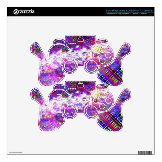 Wild and crazy PS3 controller decal