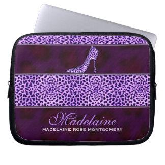 Wild and Feminine Purple Cheetah Print Computer Sleeve