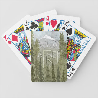 Wild And Free Bicycle Playing Cards