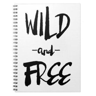 Wild and Free | Brush Modern Calligraphy Notebook