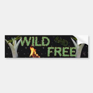 Wild and Free Car Bumper Sticker