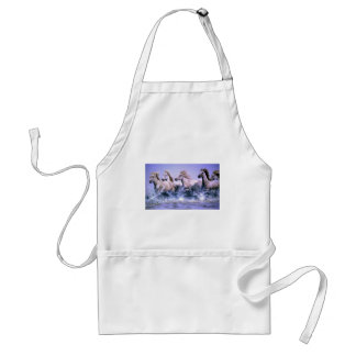 Wild and free, Camargue Horses Adult Apron