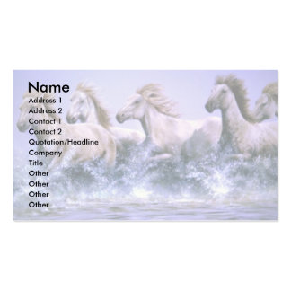 Wild and free, Camargue Horses Double-Sided Standard Business Cards (Pack Of 100)