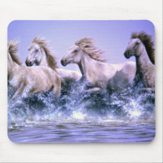 Wild and free, Camargue Horses Mouse Pad