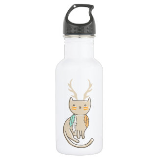 """""""Wild and Free"""" Catalope Totem 18oz Water Bottle"""
