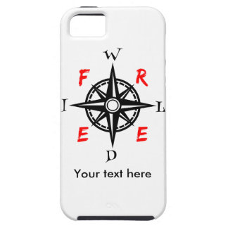 Wild And Free Compass Typography iPhone SE/5/5s Case
