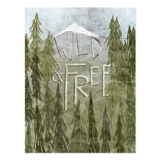 Wild And Free Postcard