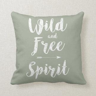 """""""Wild and Free Spirit """" Throw Pillow"""