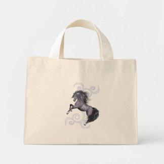 Wild and Free .. the gray stallion Mini Tote Bag