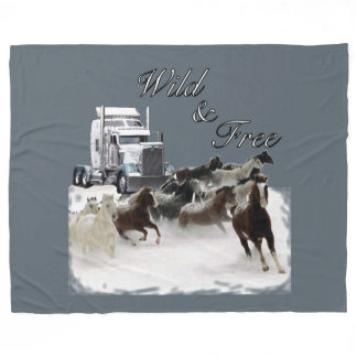 Wild and Free Trucker's Bunk Fleece Blanket