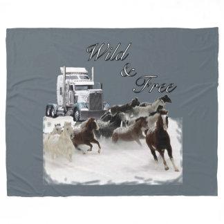 Wild and Free Trucker's Bunk Fleece Blanket