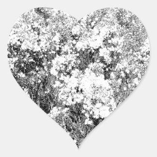 Wild and Fuzzy Desert Shrub Heart Sticker