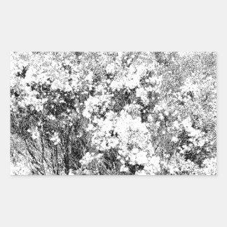 Wild and Fuzzy Desert Shrub Rectangular Sticker