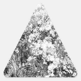 Wild and Fuzzy Desert Shrub Triangle Sticker