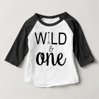 Wild and one arrow 1st birthday raglan shirt
